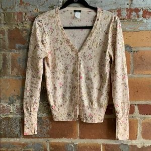 J. Crew foil floral sweater